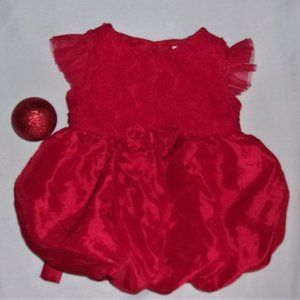 baby 12 months red  fancy pretty dress party